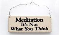 meditation er ikke hvad du tænker