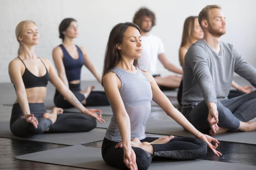 Yoga gruppe lotus