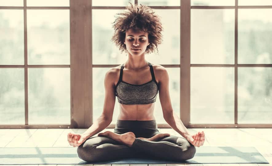 Yoga lotus meditation
